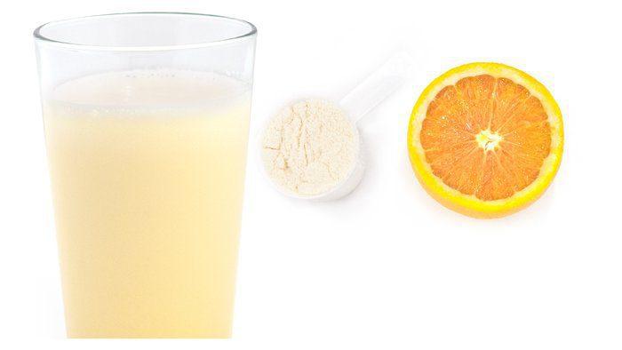 شیک پروتئین پرتقالی