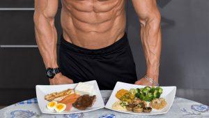 غذای یک بدنساز