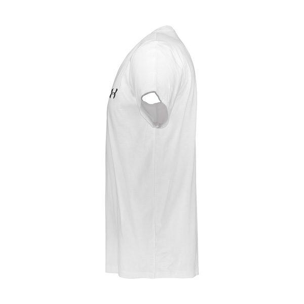 کنار تیشرت مردانه آندر آرمور UA مدل POCH نخی سفید