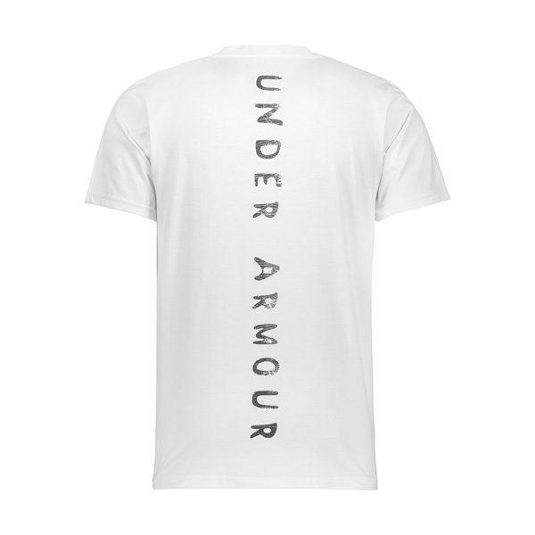 پشت تیشرت مردانه آندر آرمور UA مدل POCH نخی سفید