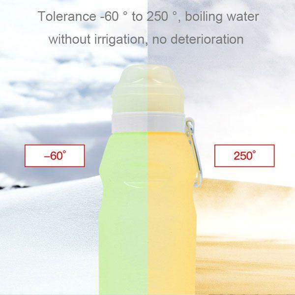 مقاومت دمای قمقمه ورزشی Iro مدل سیلیکونی