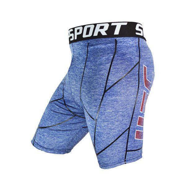نیم رخ کشاله ورزشی مردانه UFC طرح خط دار آبی
