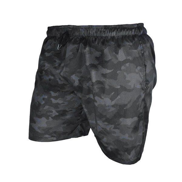 سه رخ شلوارک ورزشی مردانه چریکی جیب دار خاکستری