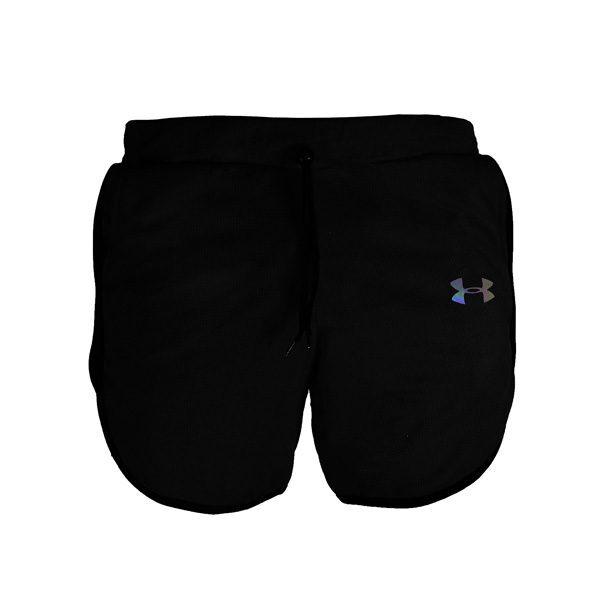 شلوارک ورزشی مردانه UNDER ARMOUR جیب دار خط مشکی
