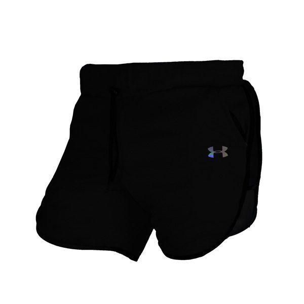 سه رخ شلوارک ورزشی مردانه UNDER ARMOUR جیب دار خط مشکی