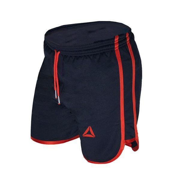 سه رخ شلوارک ورزشی مردانه Reebok سرمهای خط قرمز