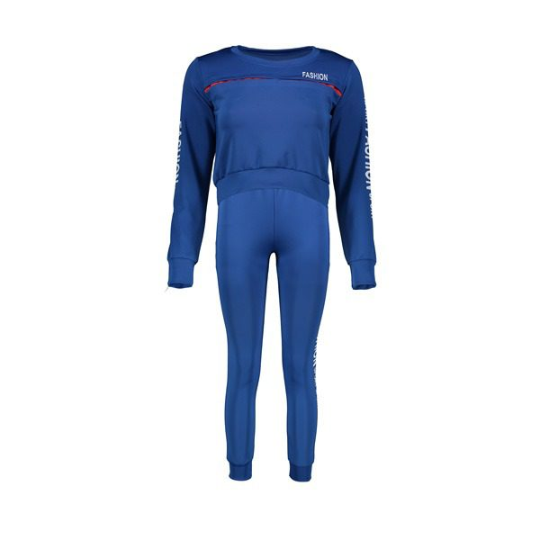 ست ورزشی زنانه نیم تنه و شلوار FASHION آبی