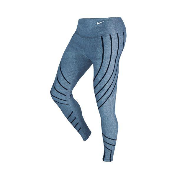 سه رخ لگ ورزشی زنانه نایک NIKE طرح خط دار آبی