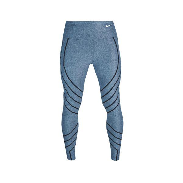 لگ ورزشی زنانه نایک NIKE طرح خط دار آبی