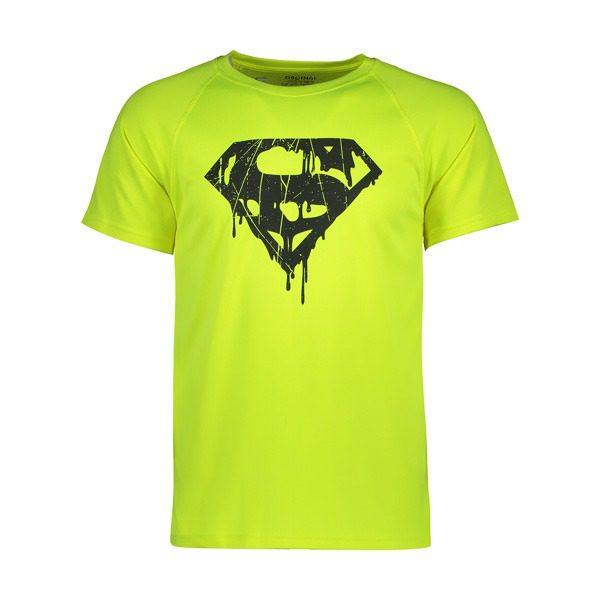 تیشرت ورزشی مردانه سوپرهیرو طرح سوپرمن فسفری