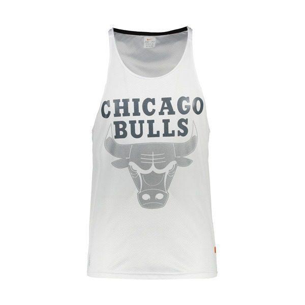 رکابی بدنسازی مردانه NIKE مدل CHICAGO BULLS سفید