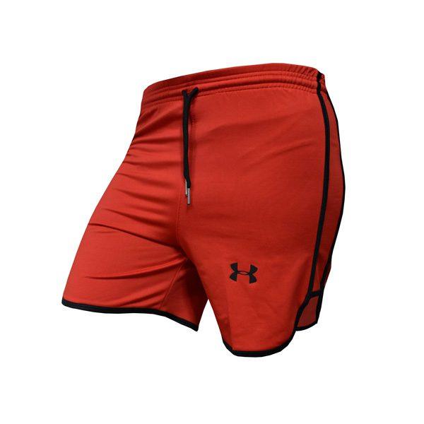 سه رخ شلوارک ورزشی مردانه UNDER ARMOUR قرمز خط مشکی