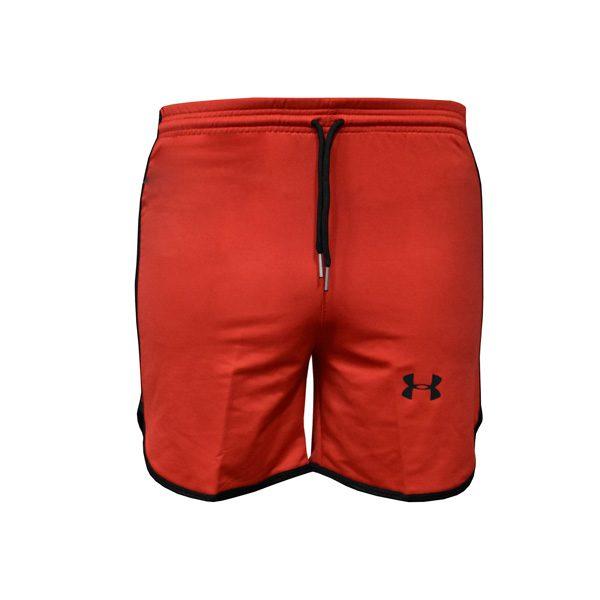 شلوارک ورزشی مردانه UNDER ARMOUR قرمز خط مشکی