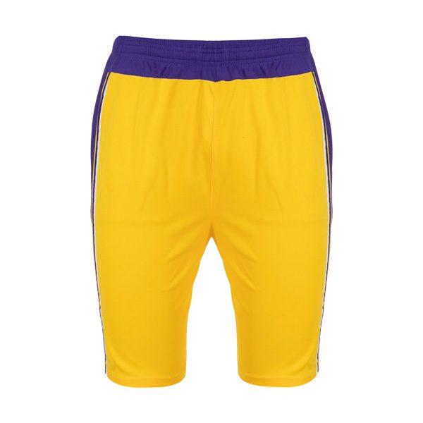 ست ورزشی مردان شلوارک بسکتبالی لیکرز مدل PY-L24 زرد
