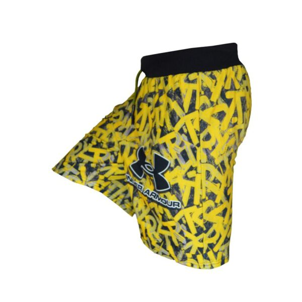 نیم رخ شلوارک ورزشی مردانه آندر آرمور TIT مدل TRY زرد