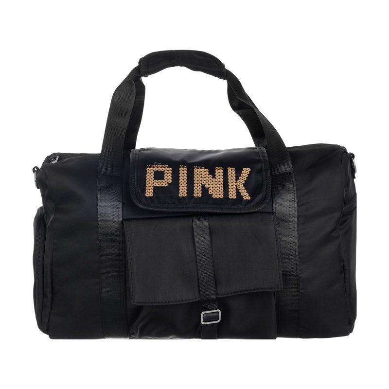 ساک ورزشی PINK مدل KH-555 بند دار مشکی