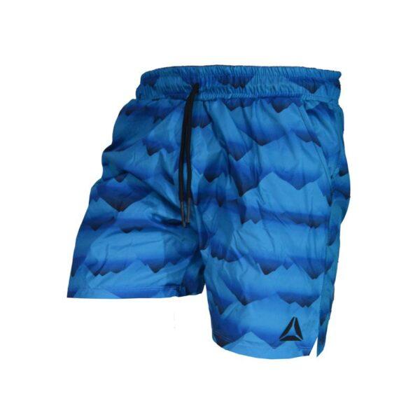 سه رخ شلوارک ورزشی مردانه ریباک مدل PB-SEE آبی