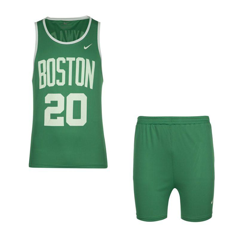 ست رکابی و شلوارک ورزشی نایک طرح BOSTON 20 سبز