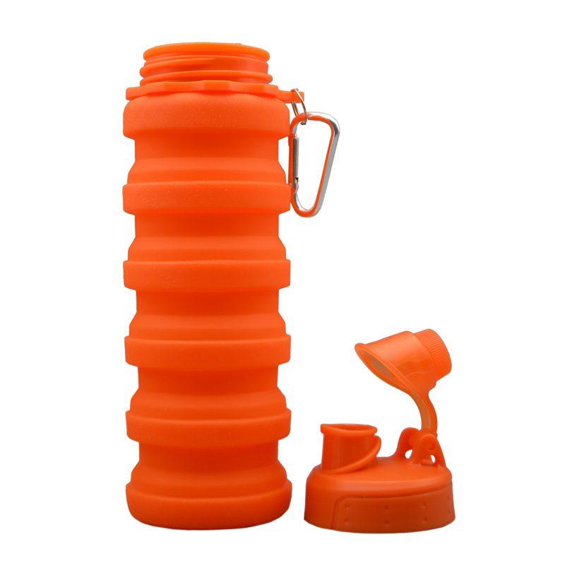 قمقمه سیلیکونی پاکت باتل مدل آکاردپونی 0.5 لیتر نارنجی