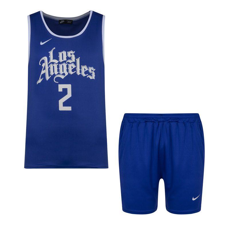 ست رکابی شلوارک ورزشی مردانه نایک مدل PY لس آنجلس ۲ آبی