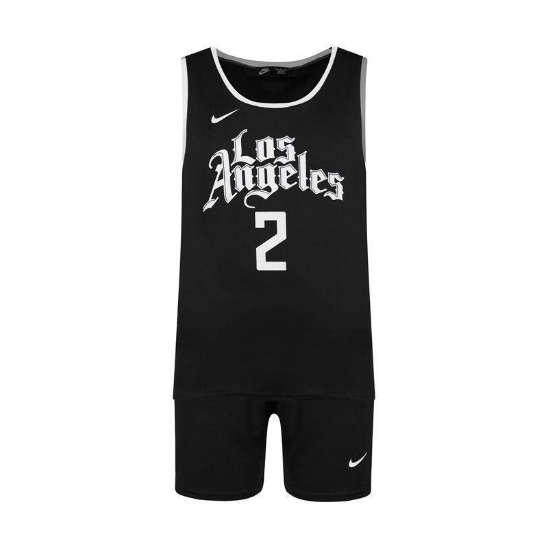 ست رکابی شلوارک ورزشی مردانه نایک مدل PY لس آنجلس ۰۲ مشکی