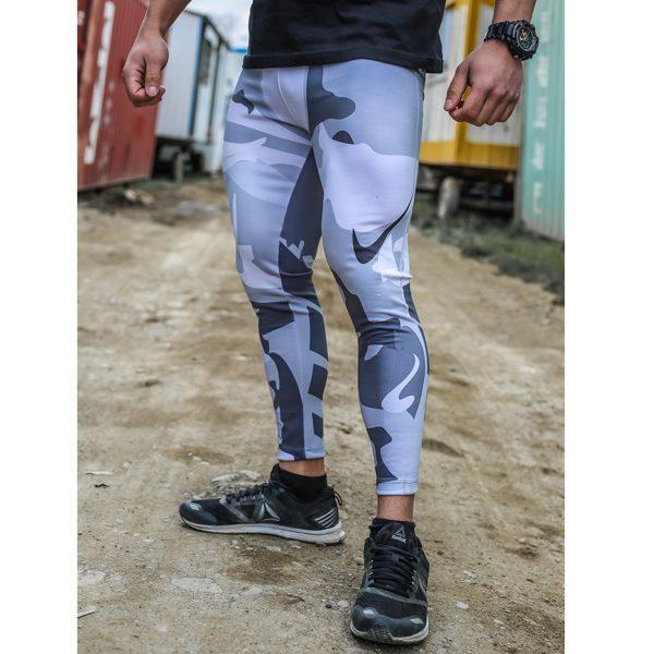 لگ ورزشی مردانه نایک مدل KZ-ARMY350 چریکی طوسی لایف استایل