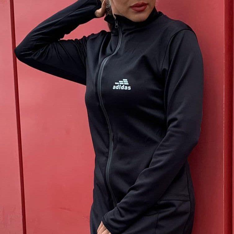 لایف استایل مانتو ورزشی زنانه آدیداس مدل PB-SIMP0925 مشکی