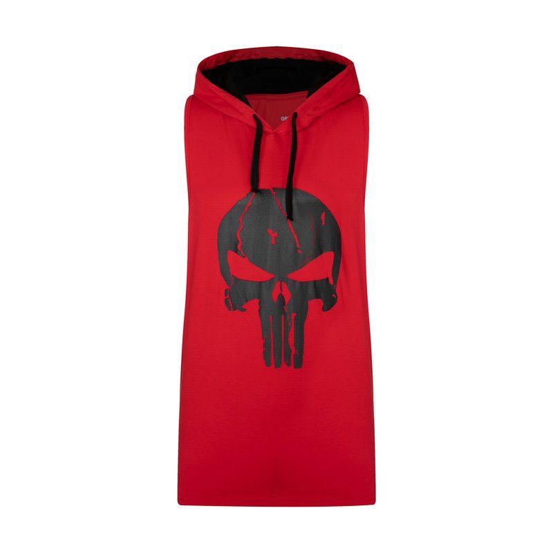 رکابی کلاهدار ورزشی مردانه پانیشر مدل PY-BAND قرمز در دسته بندی لباس ورزشی مردانه