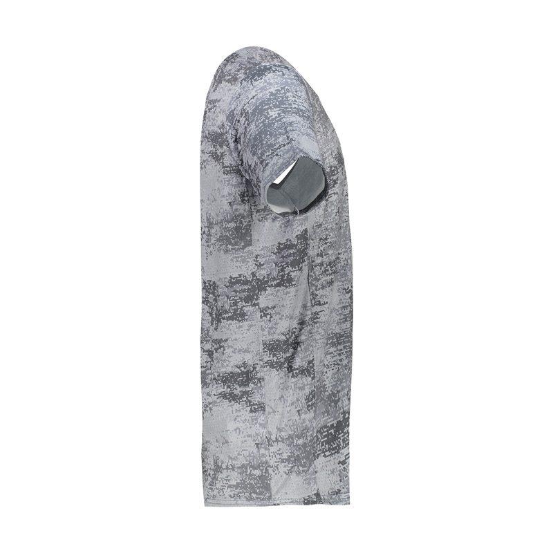 تیشرت ورزشی مردانه نایک مدل MuB-213 برفکی طوسی تیره نیمرخ