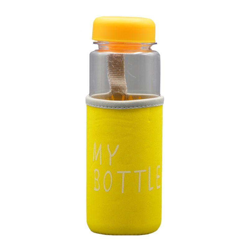 قمقمه مای باتل ساده ظرفیت 0.5 لیتر زرد