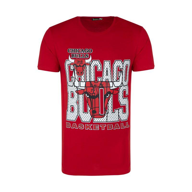 تیشرت ورزشی مردانه شیکاگو بولز مدل SPL-BASKETBAL 0303 قرمز