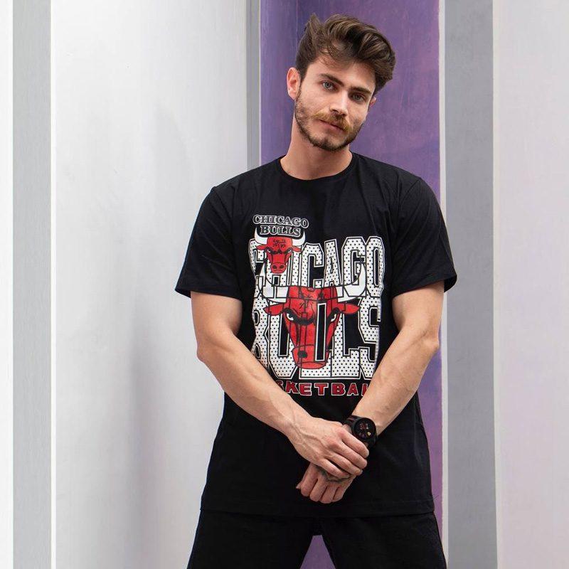 لایف استایل تیشرت ورزشی مردانه شیکاگو بولز مدل SPL-BASKETBAL 0303 مشکی