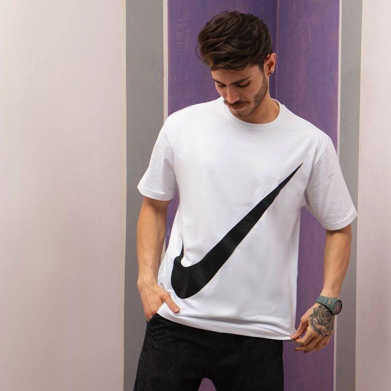 تیشرت ورزشی مردانه نایک مدل SPL-BIG NK-0220 سفید لایف استایل