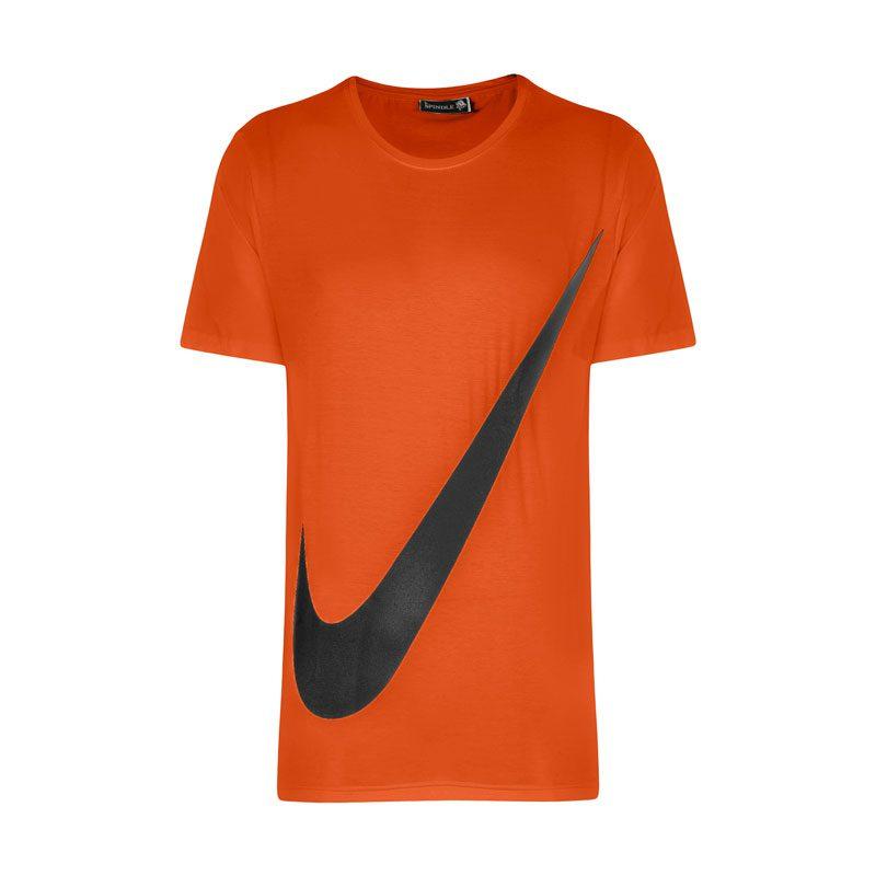 تیشرت ورزشی مردانه نایک مدل SPL-BIG NK-0220 نارنجی