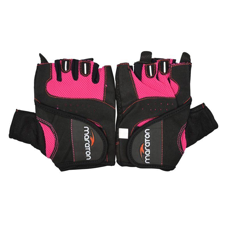 دستکش ورزشی زنانه ماراتن مدل KTB-0225 صورتی