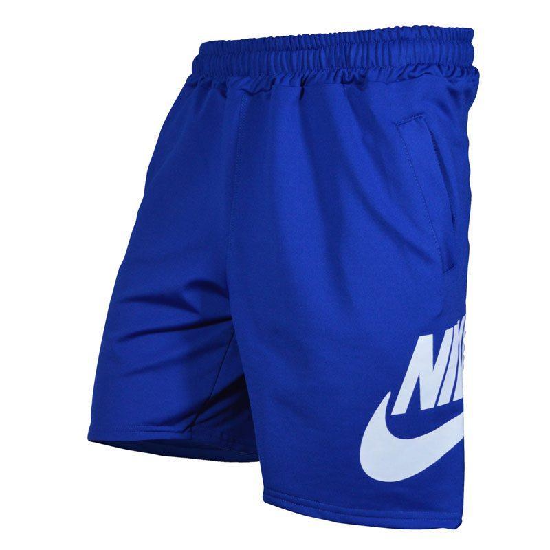 شلوارک ورزشی مردانه نایکی مدل PY-BigNIKE FL آبی سه رخ