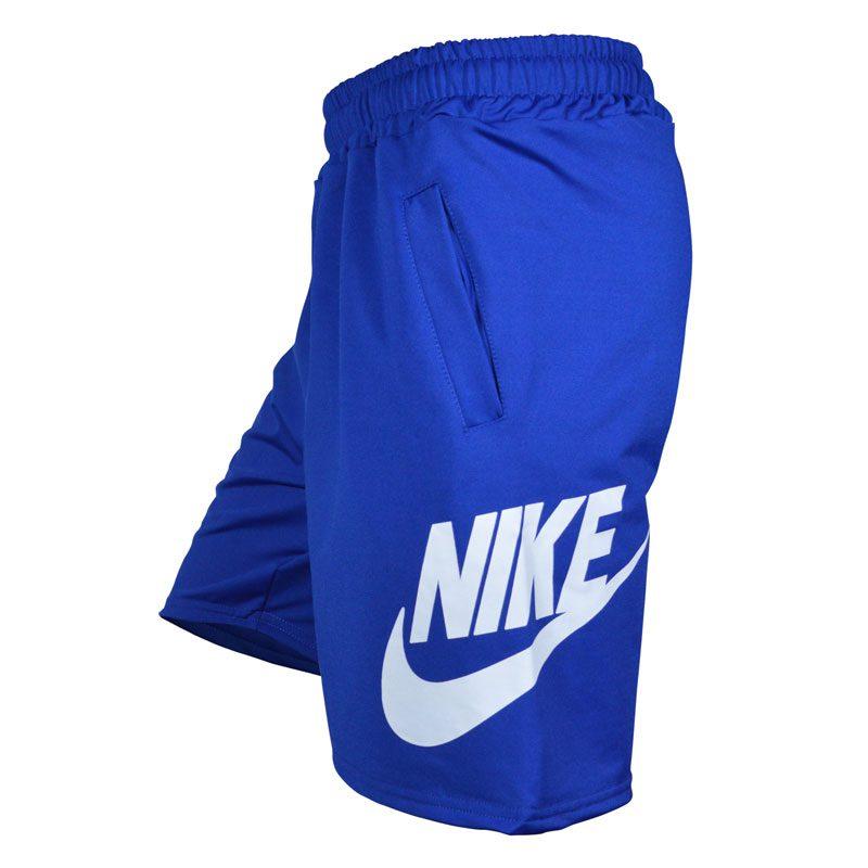 شلوارک ورزشی مردانه نایکی مدل PY-BigNIKE FL آبی نیمرخ
