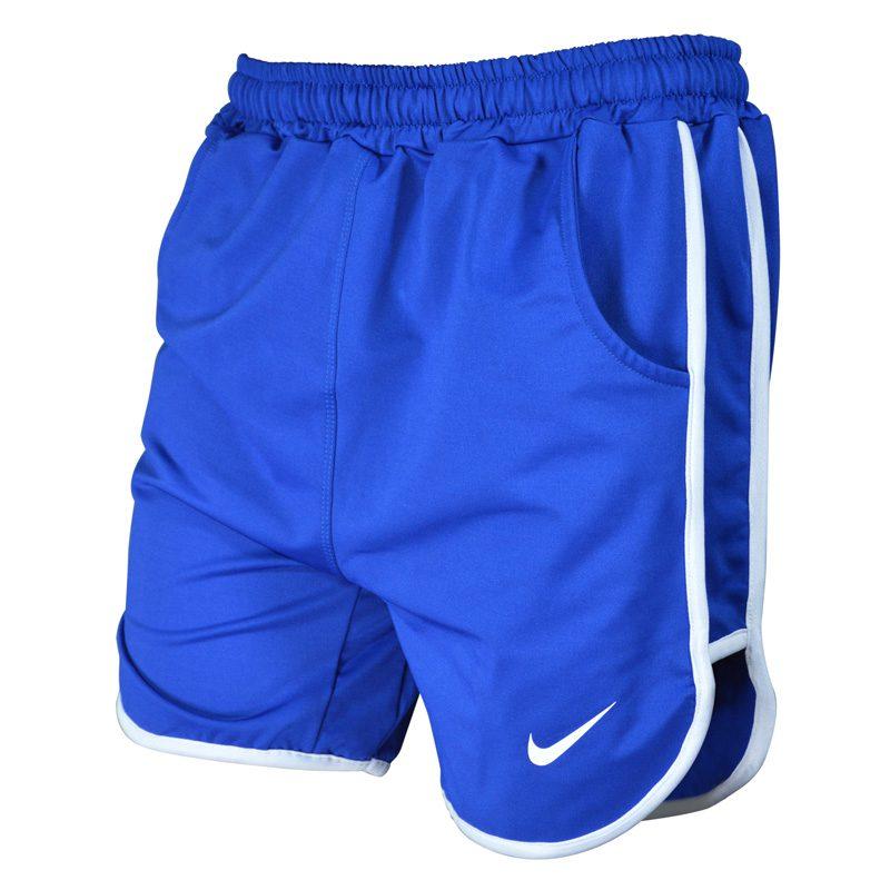 سه رخ شلوارک ورزشی مردانه نایک مدل PY-0220 آبی خط سفید