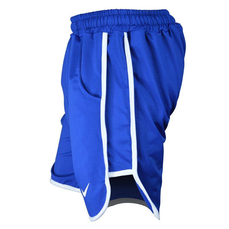 نیم رخ شلوارک ورزشی مردانه نایک مدل PY-0220 آبی خط سفید
