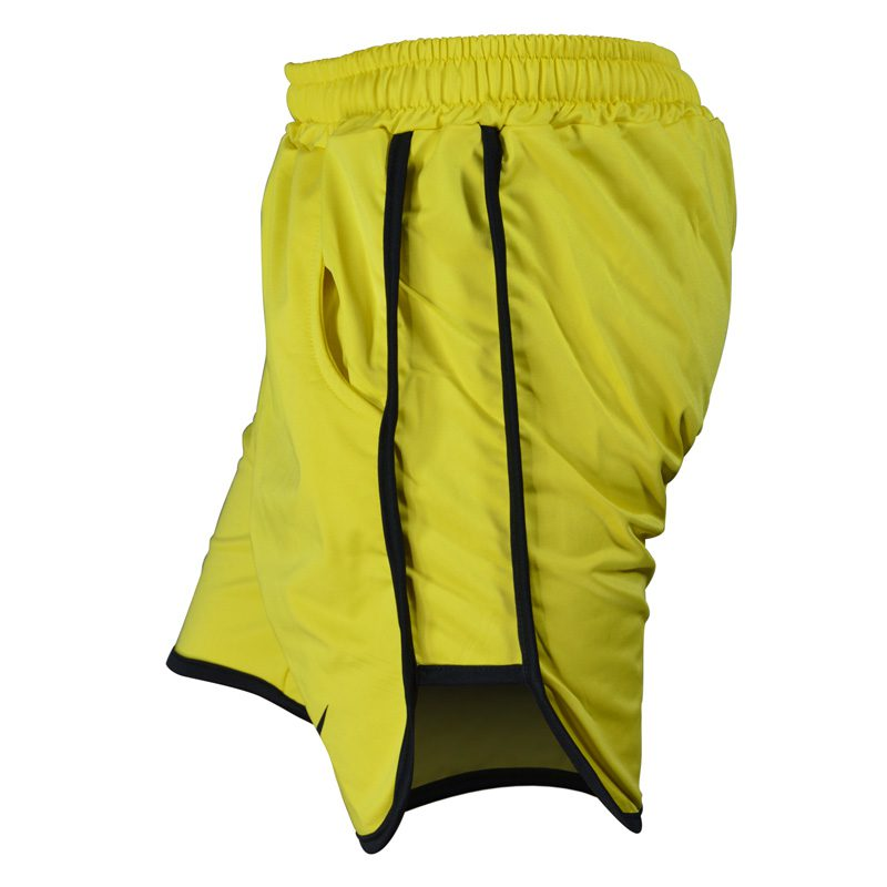 نیم رخ شلوارک ورزشی مردانه نایک مدل PY-0220 زرد خط مشکی