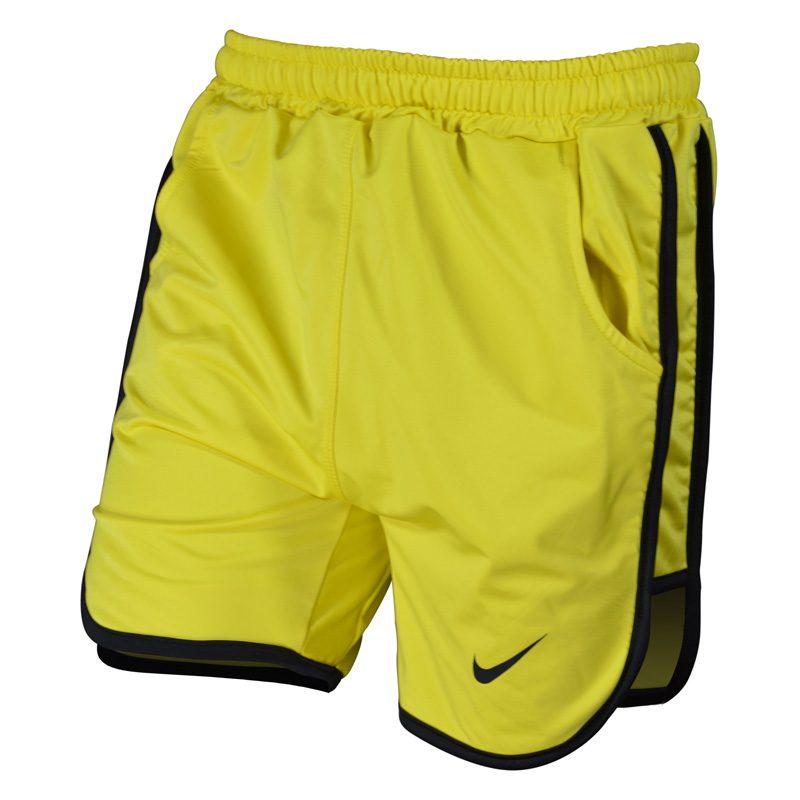 سه رخ شلوارک ورزشی مردانه نایک مدل PY-0220 زرد خط مشکی