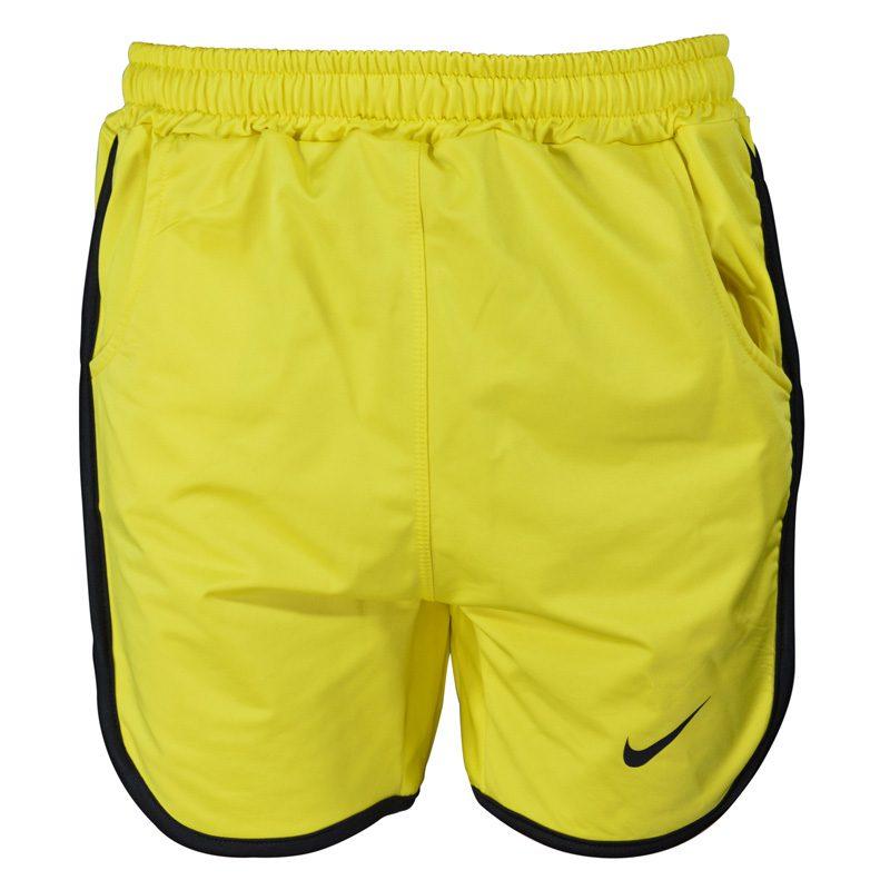 شلوارک ورزشی مردانه نایک مدل PY-0220 زرد خط مشکی