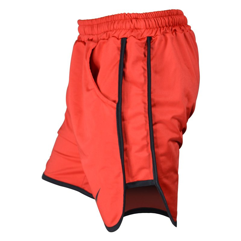 نیم رخ شلوارک ورزشی مردانه نایک مدل PY-0220 قرمز خط مشکی