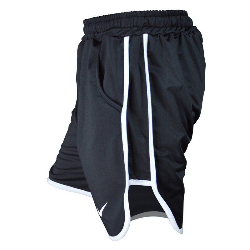 نیم رخ شلوارک ورزشی مردانه نایک مدل PY-0220 مشکی خط سفید