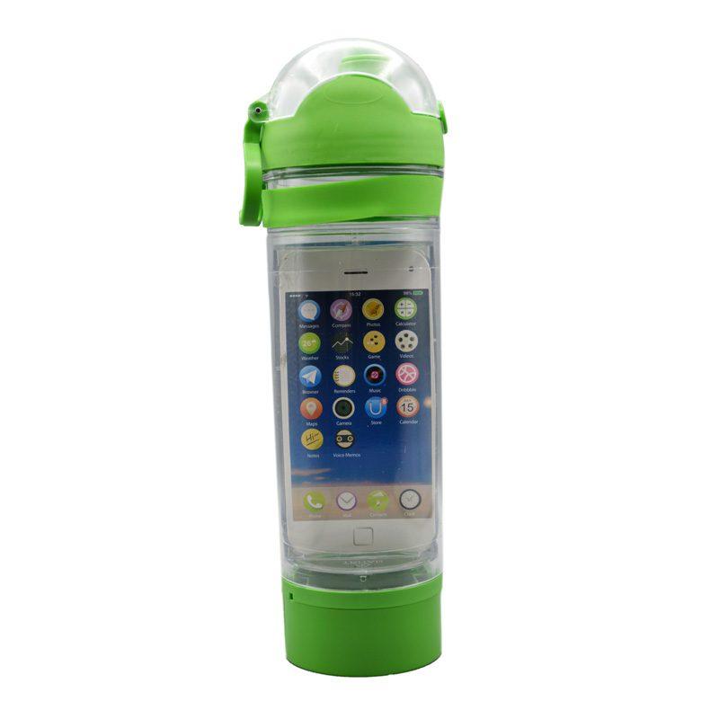 قمقمه ورزشی جا موبایلی دار مدل ANRD0220 ظرفیت 0.7 لیتر سبز