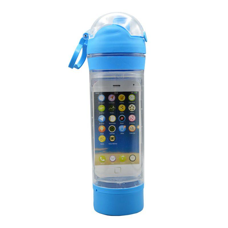 قمقمه ورزشی جا موبایلی دار مدل ANRD0220 ظرفیت 0.7 لیتر آبی