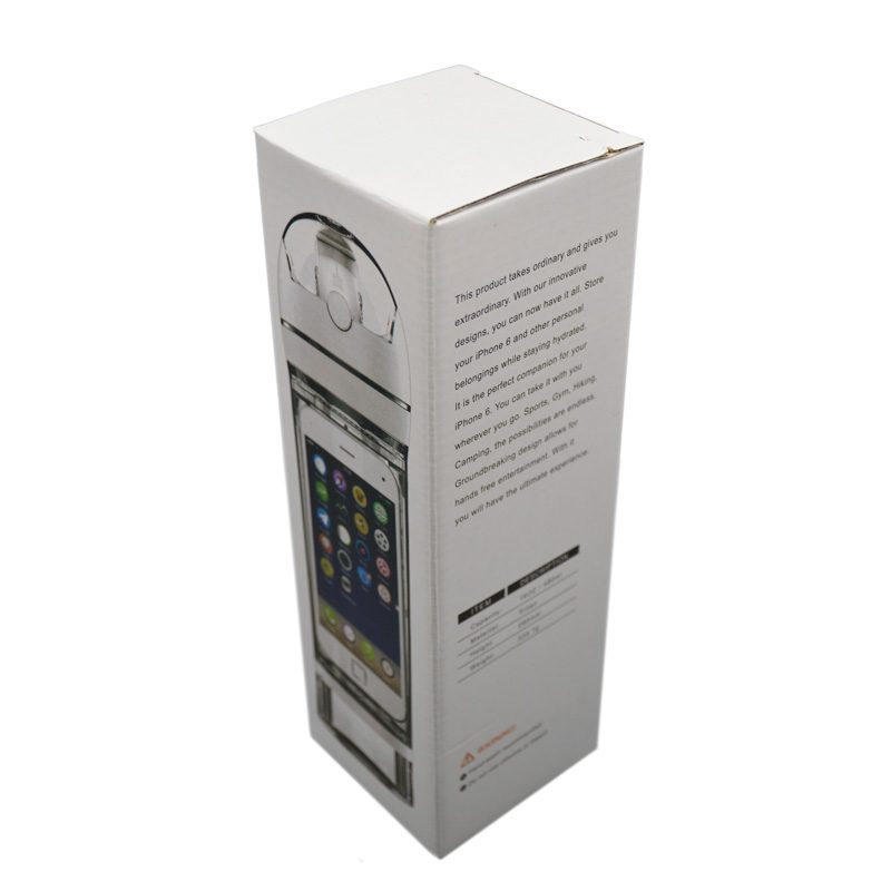 جعبه قمقمه ورزشی جا موبایلی دار مدل ANRD0220 ظرفیت 0.7 لیتر