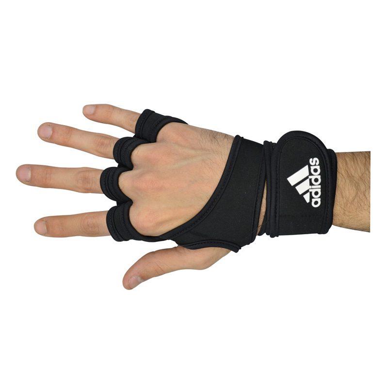 تک دست مچ بند و محافظ کف دست ورزشی آدیداس GNV مشکی