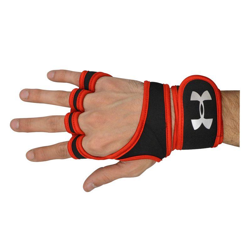 تک دست مچ بند و محافظ کف دست ورزشی آندر آرمور GNV قرمز