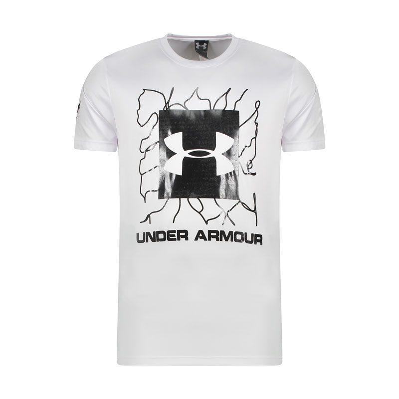 تیشرت ورزشی مردانه آندر آرمور مدل ADNK BROKEN-0220 سفید